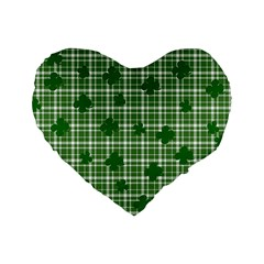St. Patrick s day pattern Standard 16  Premium Heart Shape Cushions
