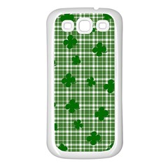 St. Patrick s day pattern Samsung Galaxy S3 Back Case (White)