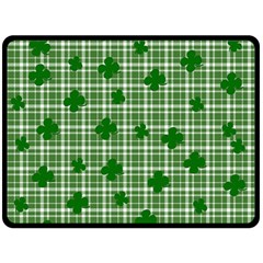 St. Patrick s day pattern Double Sided Fleece Blanket (Large)