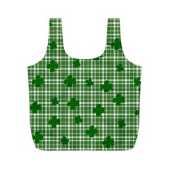 St. Patrick s day pattern Full Print Recycle Bags (M)