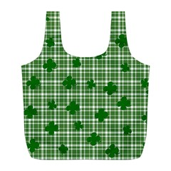 St. Patrick s day pattern Full Print Recycle Bags (L)