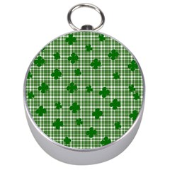 St. Patrick s day pattern Silver Compasses