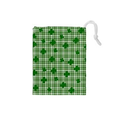 St. Patrick s day pattern Drawstring Pouches (Small)