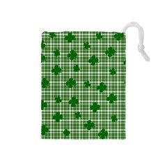 St. Patrick s day pattern Drawstring Pouches (Medium)