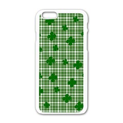 St. Patrick s day pattern Apple iPhone 6/6S White Enamel Case