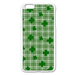 St. Patrick s day pattern Apple iPhone 6 Plus/6S Plus Enamel White Case