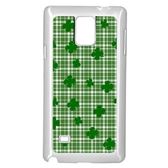 St. Patrick s day pattern Samsung Galaxy Note 4 Case (White)
