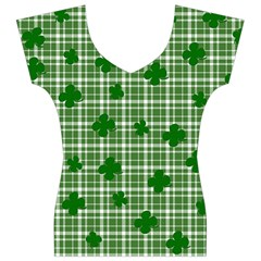 St. Patrick s day pattern Women s V-Neck Cap Sleeve Top