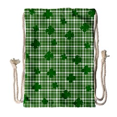 St. Patrick s day pattern Drawstring Bag (Large)