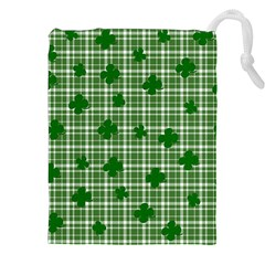 St. Patrick s day pattern Drawstring Pouches (XXL)