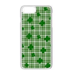 St. Patrick s day pattern Apple iPhone 7 Plus White Seamless Case