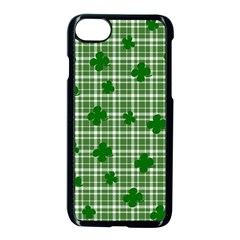 St. Patrick s day pattern Apple iPhone 7 Seamless Case (Black)