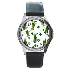 St. Patricks day  Round Metal Watch
