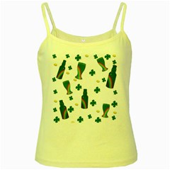 St. Patricks day  Yellow Spaghetti Tank
