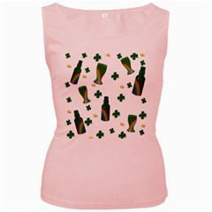 St. Patricks day  Women s Pink Tank Top
