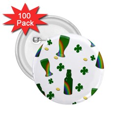 St. Patricks day  2.25  Buttons (100 pack)