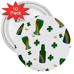 St. Patricks day  3  Buttons (10 pack)
