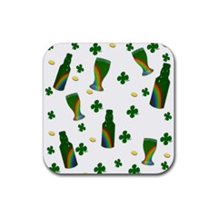 St. Patricks day  Rubber Square Coaster (4 pack)