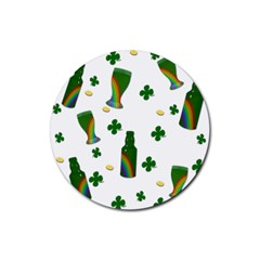 St. Patricks day  Rubber Round Coaster (4 pack)