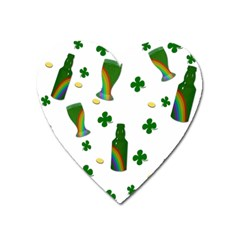 St. Patricks day  Heart Magnet