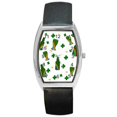 St. Patricks day  Barrel Style Metal Watch
