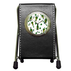 St. Patricks day  Pen Holder Desk Clocks