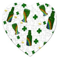 St. Patricks day  Jigsaw Puzzle (Heart)