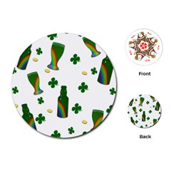 St. Patricks day  Playing Cards (Round)