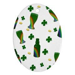 St. Patricks day  Oval Ornament (Two Sides)