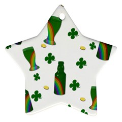 St. Patricks day  Star Ornament (Two Sides)