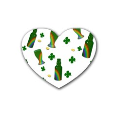 St. Patricks day  Rubber Coaster (Heart)