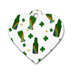 St. Patricks day  Dog Tag Heart (One Side)