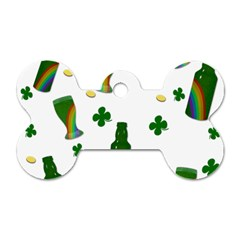 St. Patricks day  Dog Tag Bone (Two Sides)