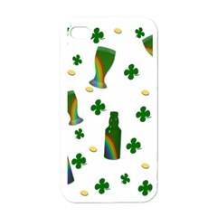 St. Patricks day  Apple iPhone 4 Case (White)