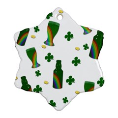 St. Patricks day  Snowflake Ornament (Two Sides)