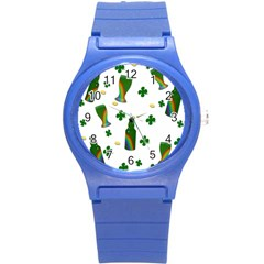 St. Patricks day  Round Plastic Sport Watch (S)