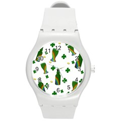 St. Patricks day  Round Plastic Sport Watch (M)
