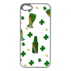 St. Patricks day  Apple iPhone 5 Case (Silver)