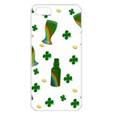 St. Patricks day  Apple iPhone 5 Seamless Case (White)