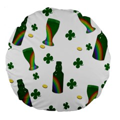 St. Patricks day  Large 18  Premium Round Cushions