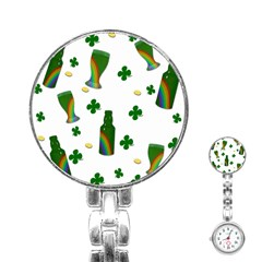 St. Patricks day  Stainless Steel Nurses Watch