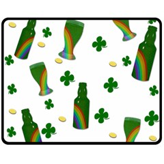 St. Patricks day  Double Sided Fleece Blanket (Medium)