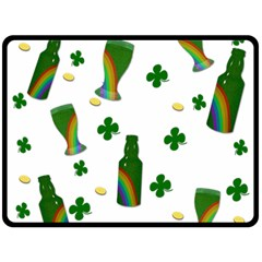 St. Patricks day  Double Sided Fleece Blanket (Large)