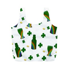 St. Patricks day  Full Print Recycle Bags (M)