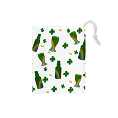 St. Patricks day  Drawstring Pouches (Small)