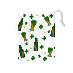 St. Patricks day  Drawstring Pouches (Medium)
