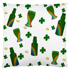St. Patricks day  Large Flano Cushion Case (One Side)