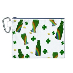St. Patricks day  Canvas Cosmetic Bag (L)