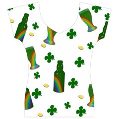 St. Patricks day  Women s V-Neck Cap Sleeve Top