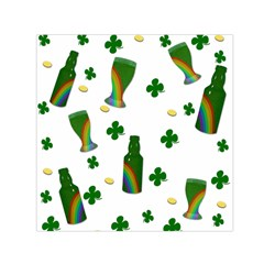 St. Patricks day  Small Satin Scarf (Square)